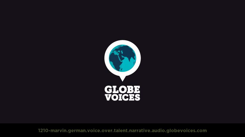 German voice over talent artist actor - 1210-Marvin narrative