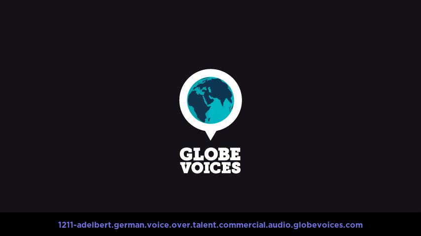 German voice over talent artist actor - 1211-Adelbert commercial