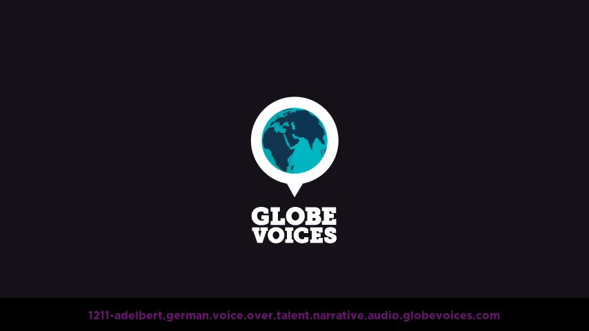 German voice over talent artist actor - 1211-Adelbert narrative