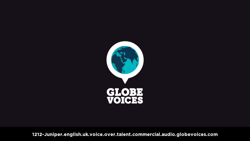 British voice over talent artist actor - 1212-Juniper commercial