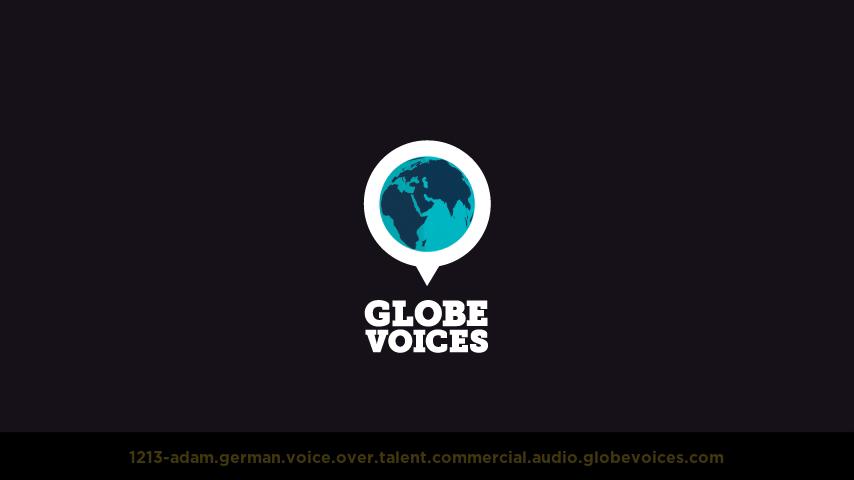 German voice over talent artist actor - 1213-Adam commercial