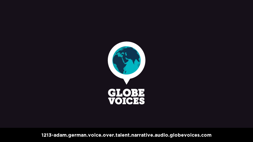 German voice over talent artist actor - 1213-Adam narrative