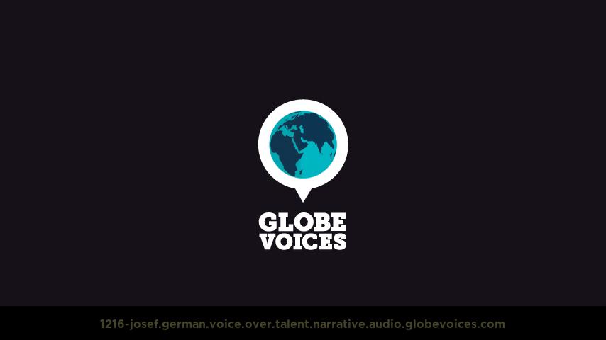 German voice over talent artist actor - 1216-Josef narrative