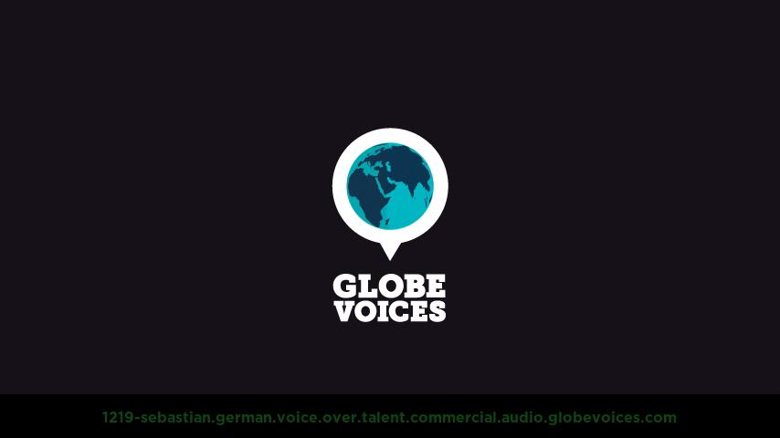 German voice over talent artist actor - 1219-Sebastian commercial
