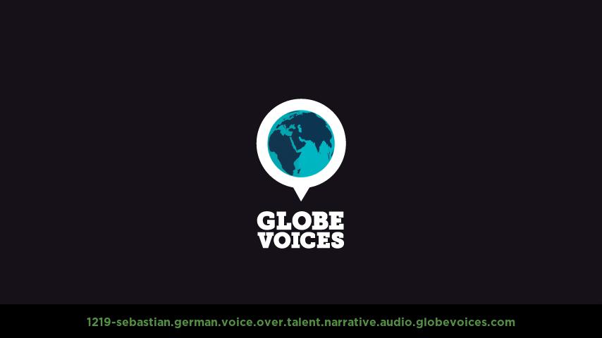 German voice over talent artist actor - 1219-Sebastian narrative