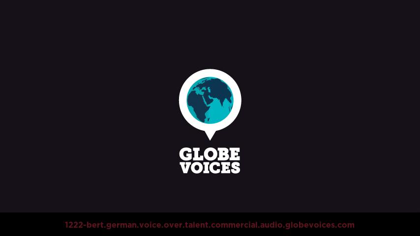 German voice over talent artist actor - 1222-Bert commercial
