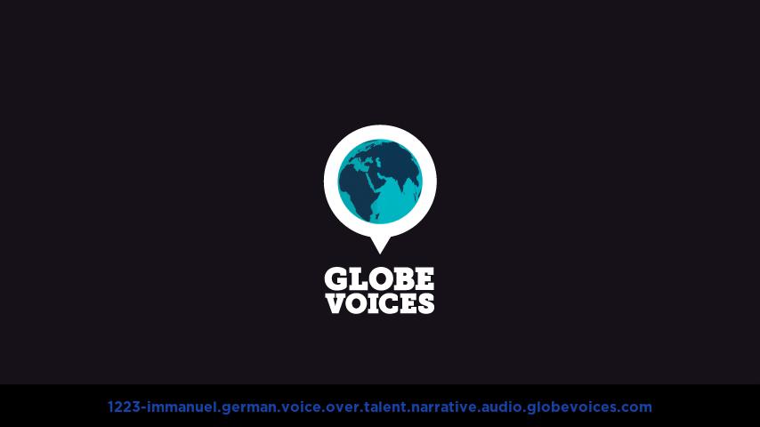 German voice over talent artist actor - 1223-Immanuel narrative