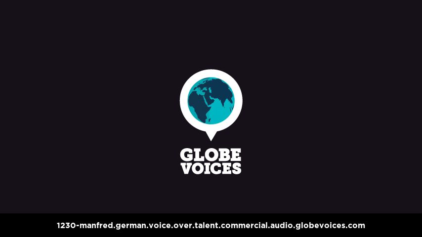 German voice over talent artist actor - 1230-Manfred commercial