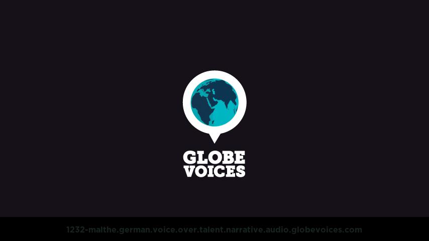 German voice over talent artist actor - 1232-Malthe narrative