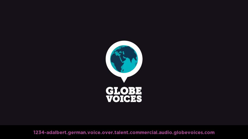 German voice over talent artist actor - 1234-Adalbert commercial