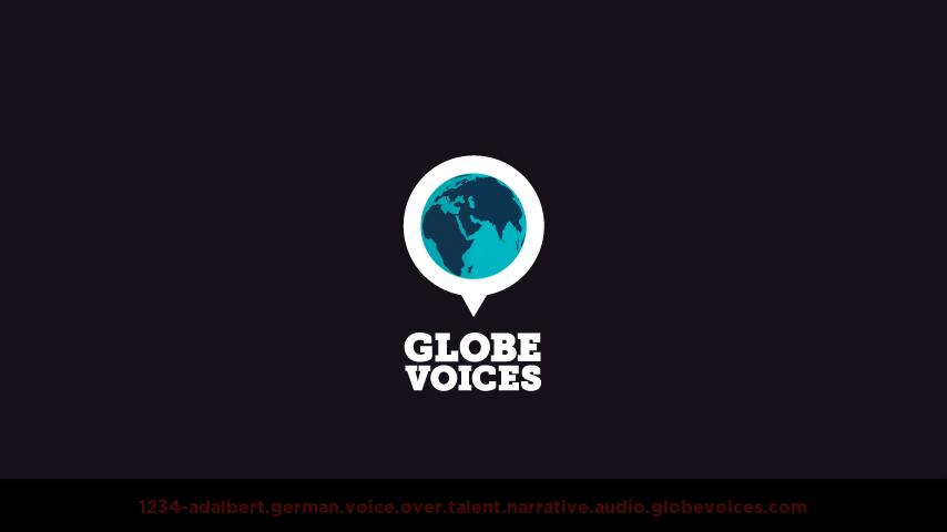 German voice over talent artist actor - 1234-Adalbert narrative