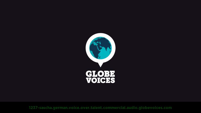 German voice over talent artist actor - 1237-Sascha commercial