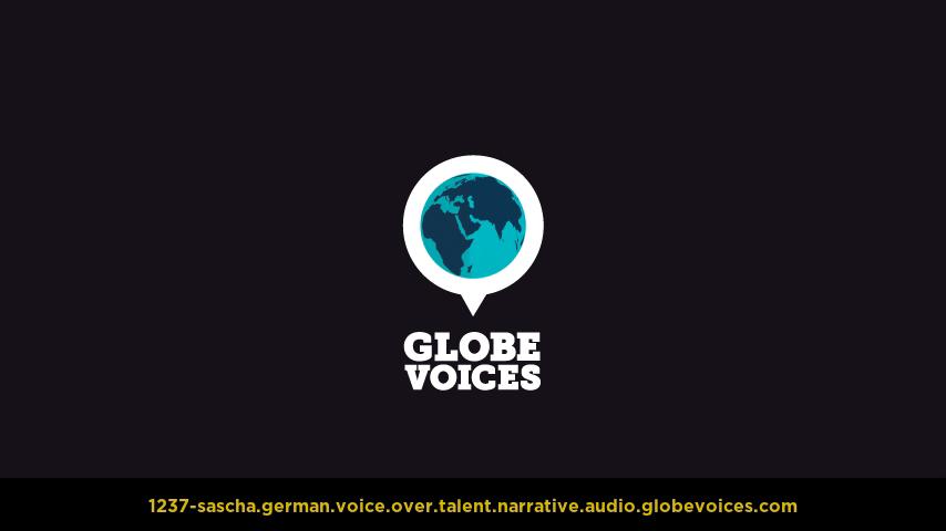 German voice over talent artist actor - 1237-Sascha narrative