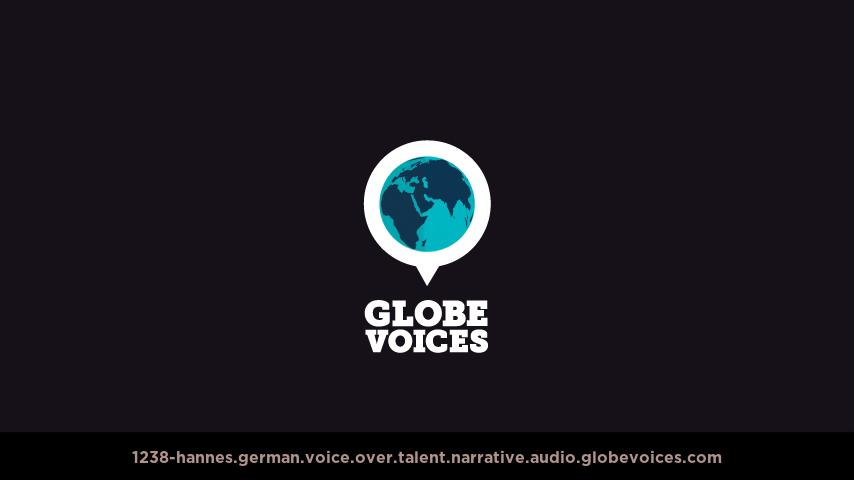German voice over talent artist actor - 1238-Hannes narrative
