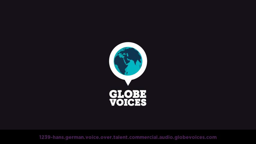 German voice over talent artist actor - 1239-Hans commercial