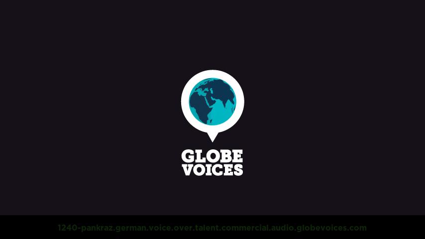 German voice over talent artist actor - 1240-Pankraz commercial