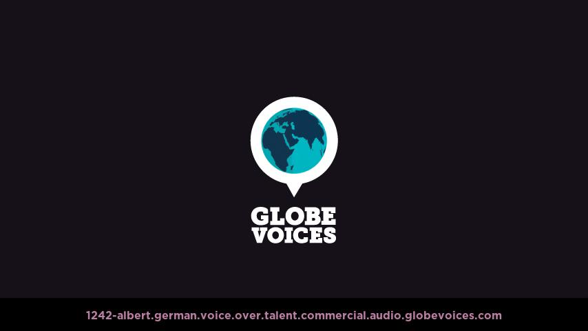 German voice over talent artist actor - 1242-Albert commercial