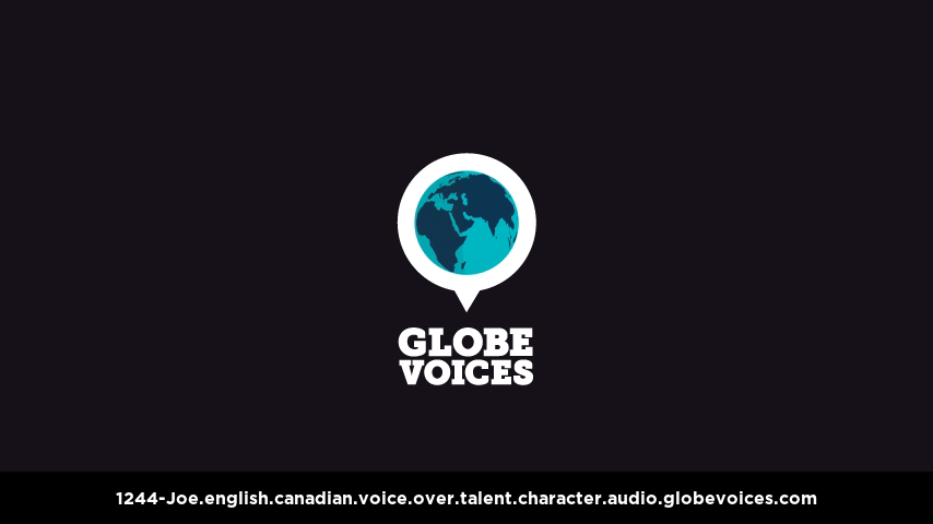 English (Canadian) voice over talent artist actor - 1244-Joe character