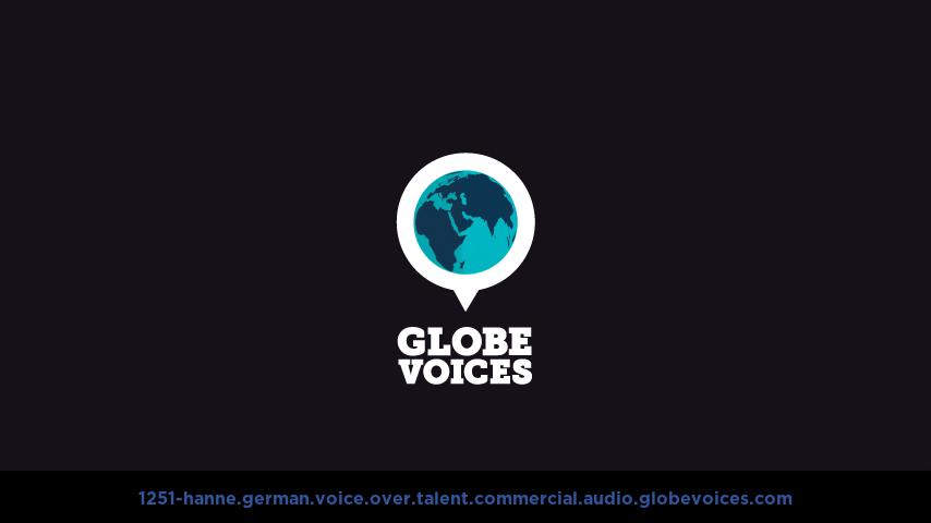 German voice over talent artist actor - 1251-Hanne commercial