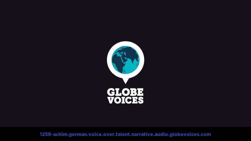 German voice over talent artist actor - 1259-Achim narrative