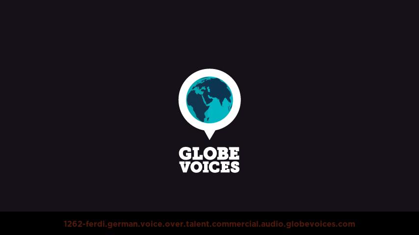 German voice over talent artist actor - 1262-Ferdi commercial