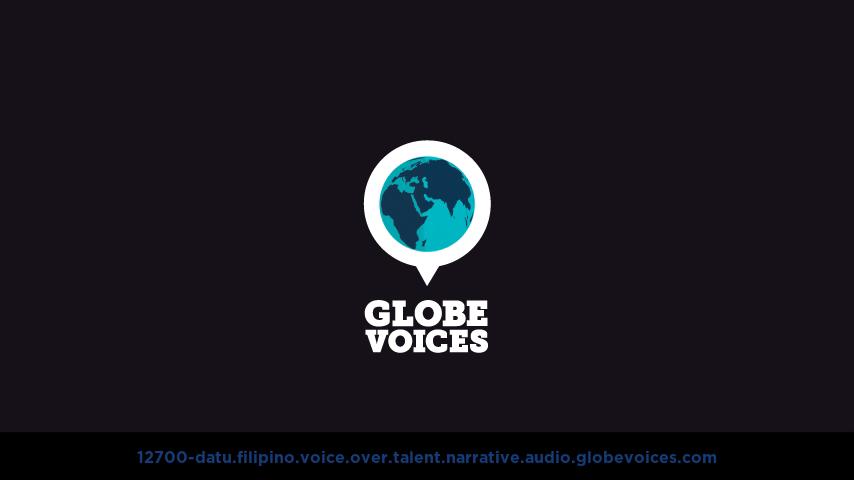 Filipino voice over talent artist actor - 12700-Datu narrative