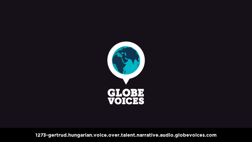 Hungarian voice over talent artist actor - 1273-Gertrud narrative
