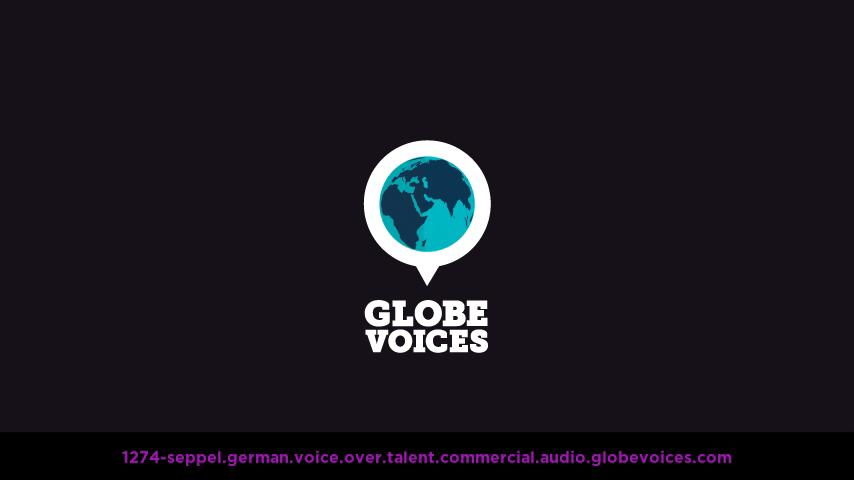German voice over talent artist actor - 1274-Seppel commercial