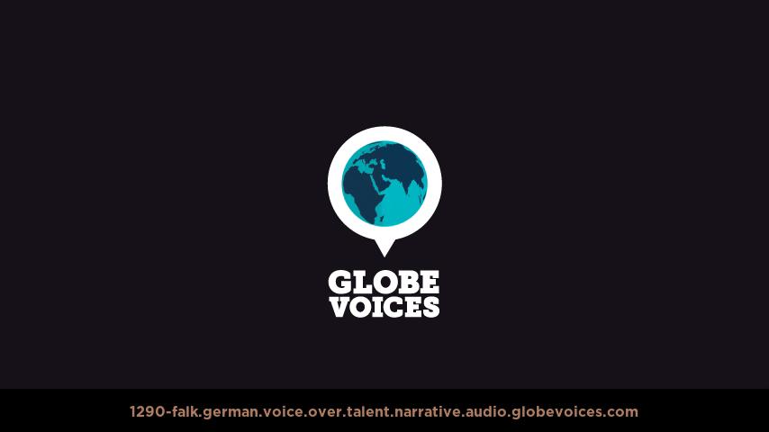 German voice over talent artist actor - 1290-Falk narrative