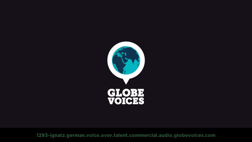 German voice over talent artist actor - 1293-Ignatz commercial