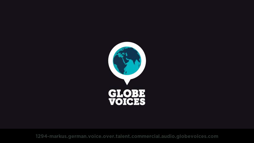 German voice over talent artist actor - 1294-Markus commercial