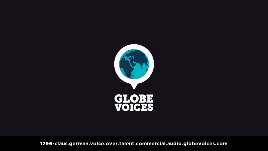 German voice over talent artist actor - 1296-Claus commercial