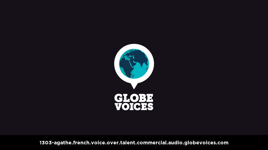 French voice over talent artist actor - 1303-Agathe commercial