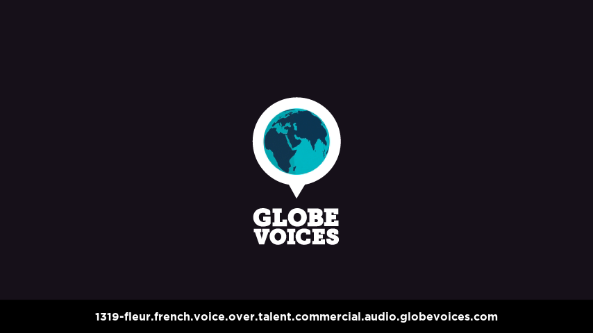 French voice over talent artist actor - 1319-Fleur commercial
