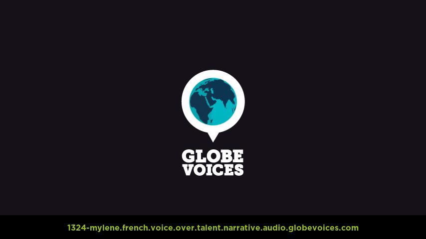French voice over talent artist actor - 1324-Mylene narrative