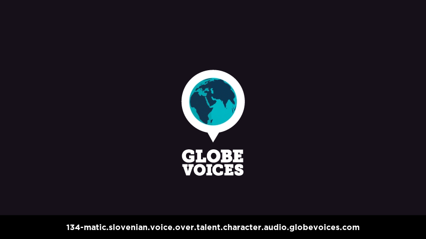 Slovenian voice over talent artist actor - 134-Matic character