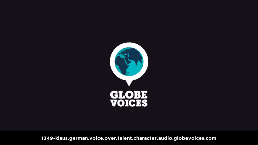 German voice over talent artist actor - 1349-Klaus character