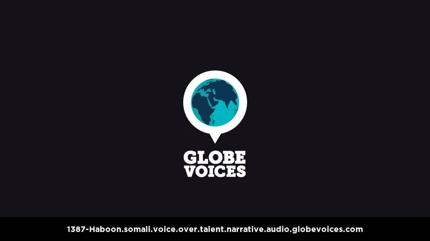 Somali voice over talent artist actor - 1387-Haboon narrative