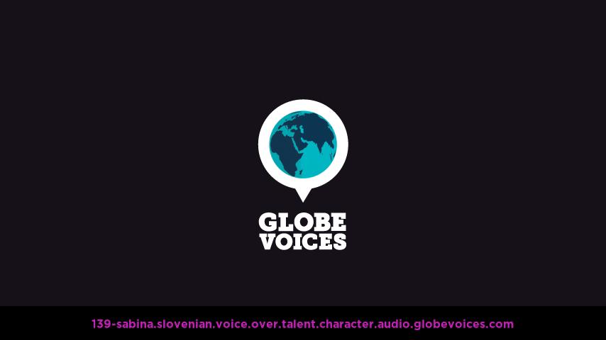 Slovenian voice over talent artist actor - 139-Sabina character