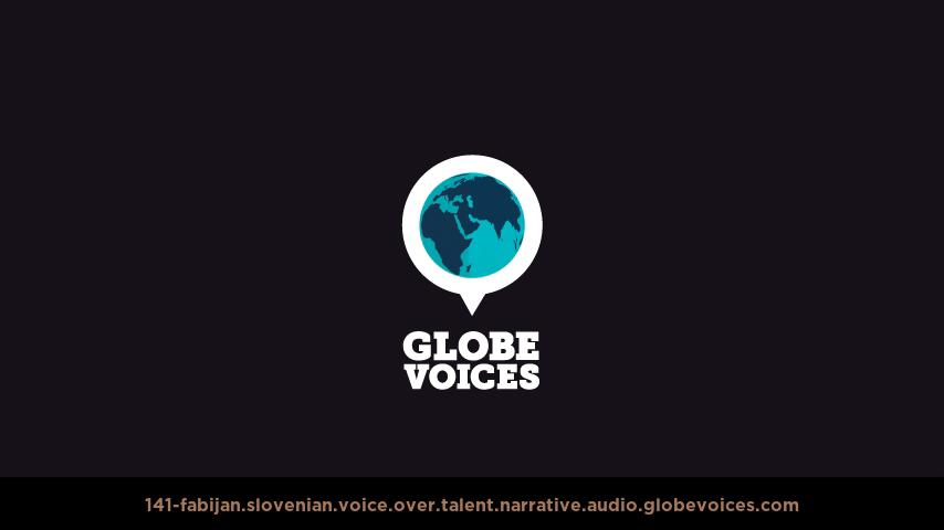 Slovenian voice over talent artist actor - 141-Fabijan narrative