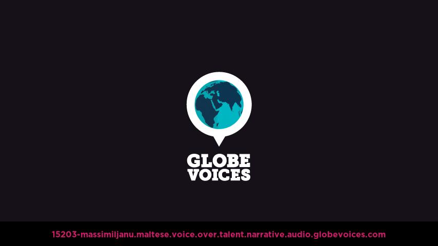 Maltese voice over talent artist actor - 15203-Massimiljanu narrative