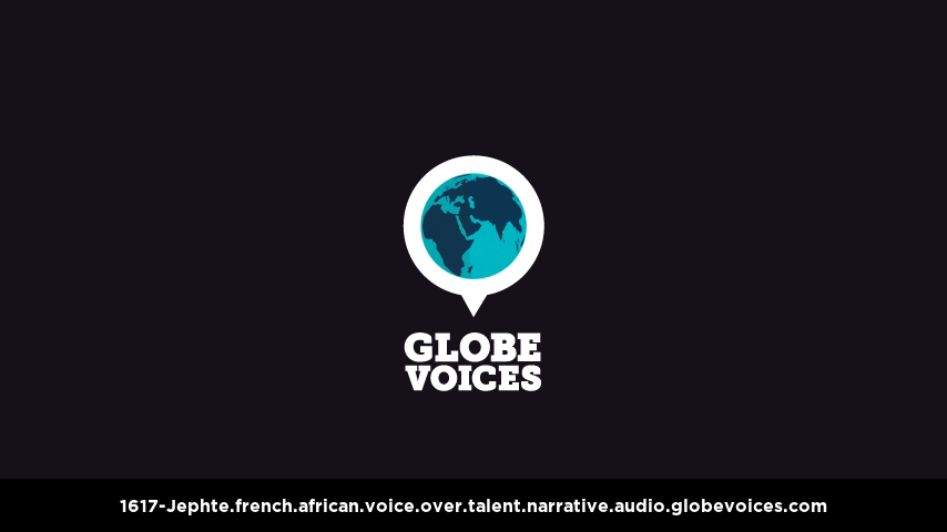 French (African) voice over talent artist actor - 1617-Jephte narrative