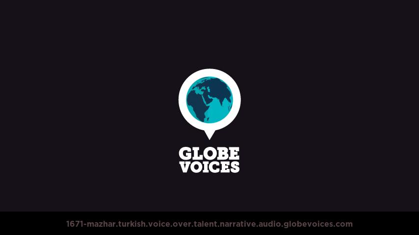 Turkish voice over talent artist actor - 1671-Mazhar narrative