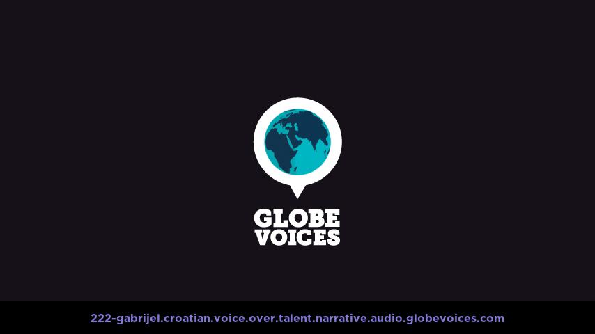 Croatian voice over talent artist actor - 222-Gabrijel narrative