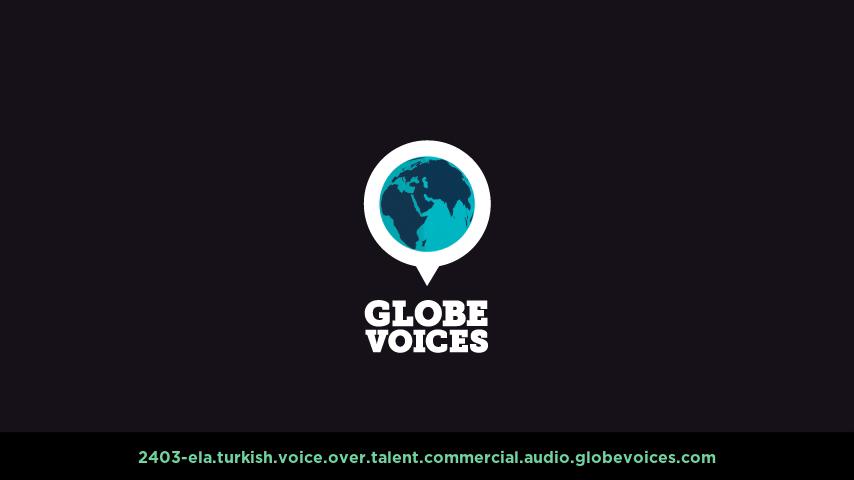 Turkish voice over talent artist actor - 2403-Ela commercial