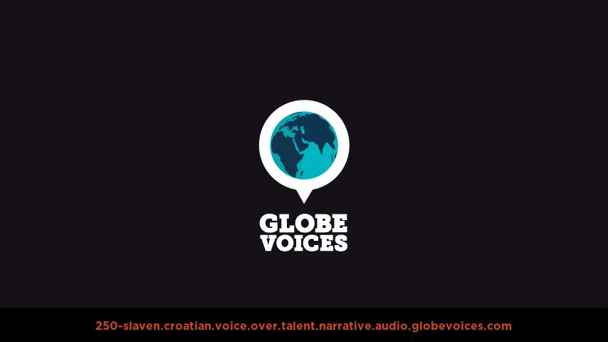 Croatian voice over talent artist actor - 250-Slaven narrative