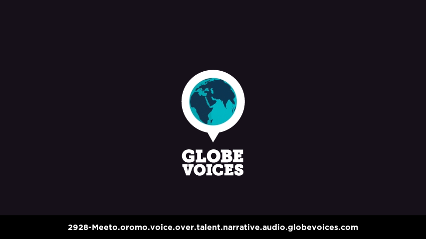 Oromo voice over talent artist actor - 2928-Meeto narrative