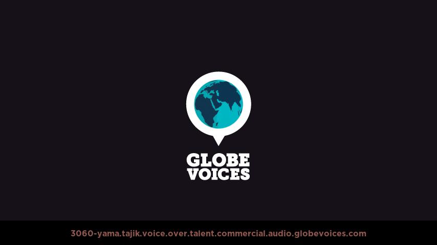 Tajik voice over talent artist actor - 3060-Yama commercial