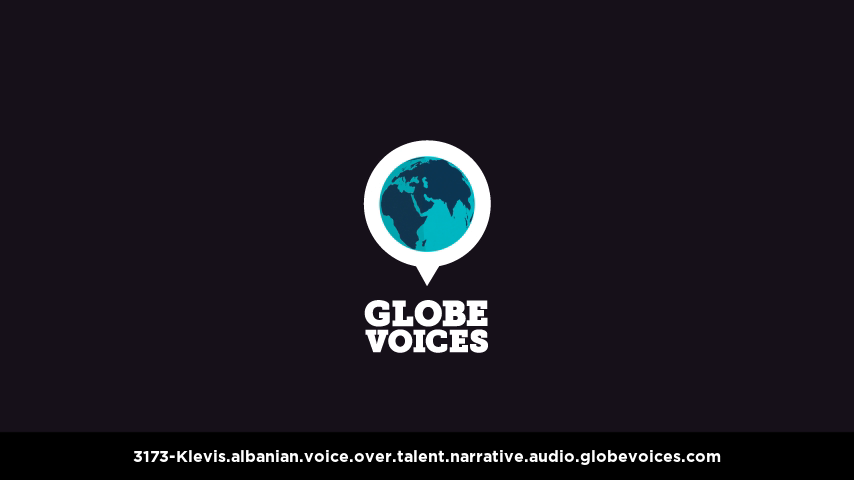 Albanian voice over talent artist actor - 3173-Klevis narrative