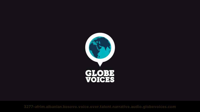 Albanian (Kosovo) voice over talent artist actor - 3277-Afrim narrative